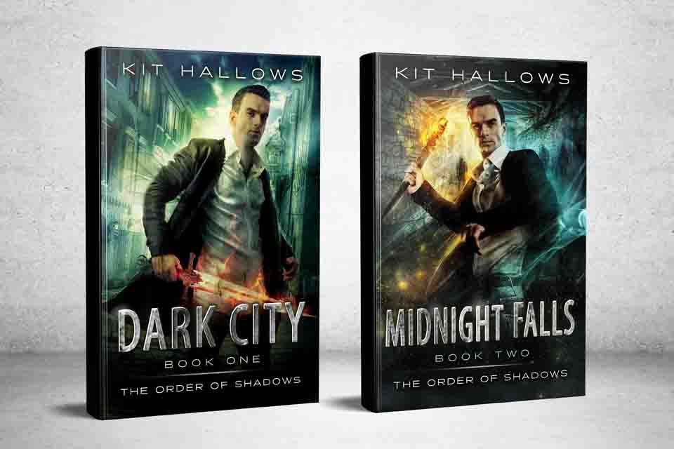 The covers for Dark City and Midnight Falls