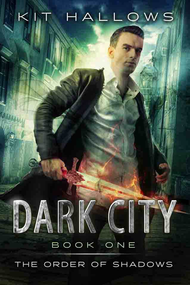 The cover for Dark City by Kit Hallows