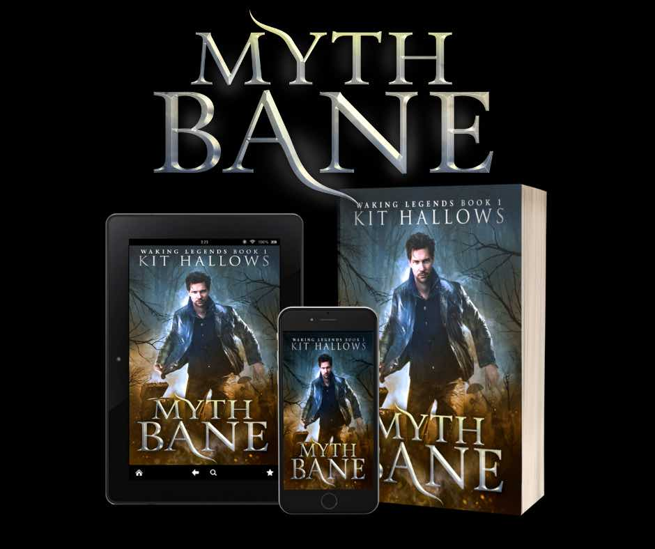 The cover for Myth Bane by Kit Hallows